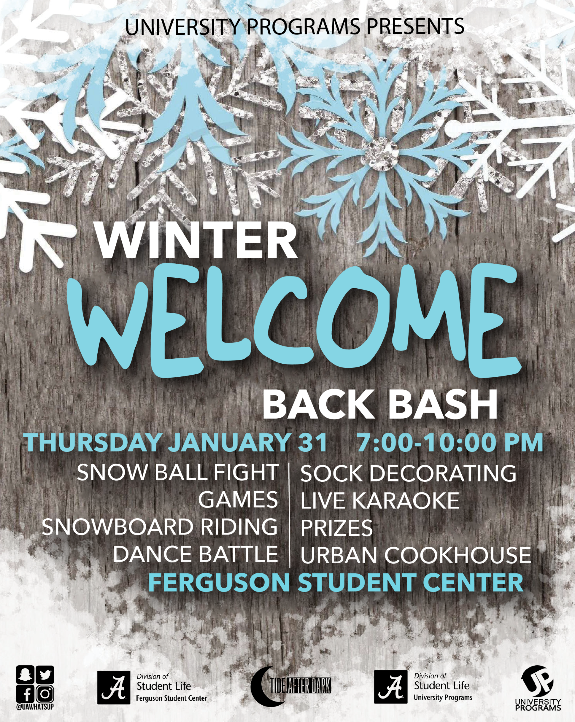 Winter Welcome Back Bash University Programs