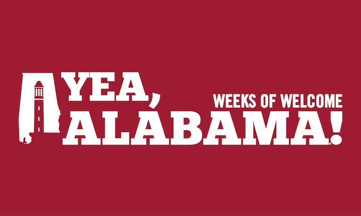 Yea, Alabama! Weeks of Welcome logo