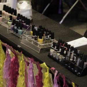 Pictured are the nail polish options for manicures at Battle of the Sexes.